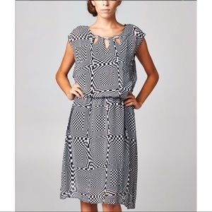 NEW! Christine Black/White Dress